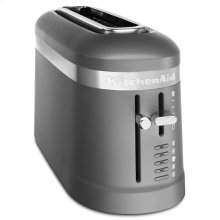 2 Slice Long Slot Toaster with High-Lift Lever - Matte Charcoal Grey