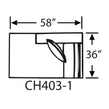 Sectional Component-Armless Chaise
