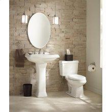 """White Allerton 8"""" Centers Standard Pedestal Bathroom Sink"""