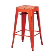 "Bristow 26"" Antique Metal Barstools, Antique Orange, 2-pack"