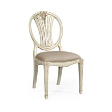 Hepplewhite wheatsheaf side chair (Off-white)