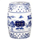 Gateless Mist Chinoiserie Garden Stool - Blue Product Image