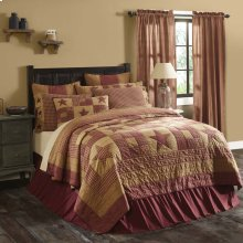 Ninepatch Star King Quilt 105Wx95L