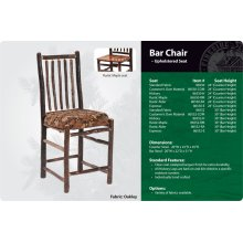 Hickory Bar Chair - Upholstered Seat
