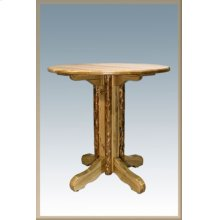 Glacier Country Log Pedestal Pub Table