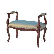 A Hand Carved Stool or Window Seat