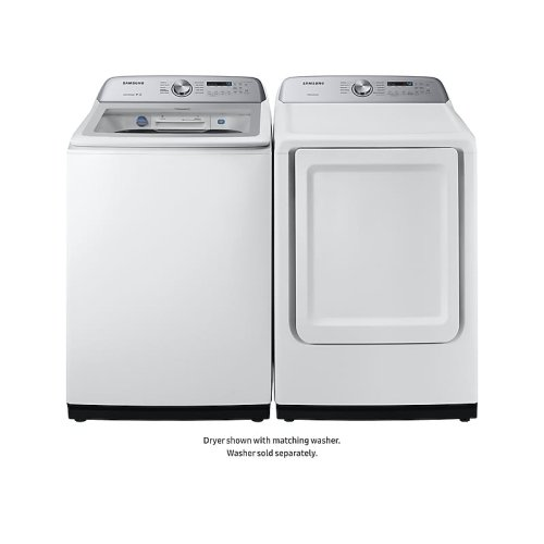 7.4 cu. ft. Gas Dryer with Sensor Dry in White