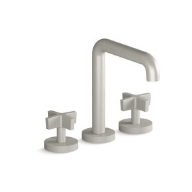Deck-Mount Bath Faucet, Tall-Spout, Cross Handles - Brushed Nickel