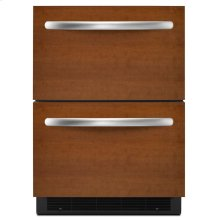 5.1 Cu. Ft. 24'' Double-Drawer Refrigerator Overlay Panel-Ready - Panel Ready