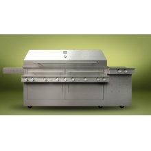 K1500HS Hybrid Fire Freestanding Grill with Side Burner