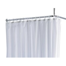 Shower curtain PLAN uni - white/8 eyelets