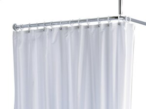 Shower curtain PLAN uni - white/8 eyelets Product Image