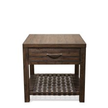 Magnolia Hill Side Table Burnished Brown Oak finish