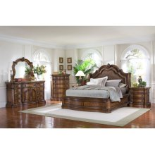 San Mateo Sleigh Style King Rails and Slats