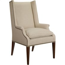Martin Host Chair with Loose Cushion and Arms - Ash