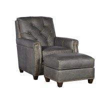 Wyatt Leather Chair, Wyatt Leather Ottoman