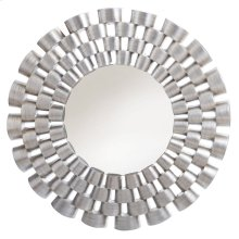 VICTORIA MIRROR  Silver Leaf Finish on Resin Frame  Plain Glass Beveled Mirror
