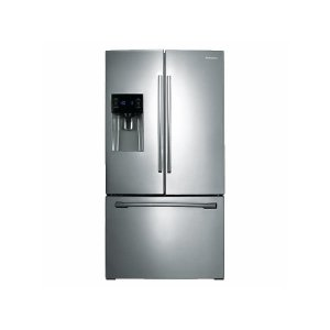 25 cu. ft. French Door Refrigerator with External Water & Ice Dispenser in Stainless Steel Product Image