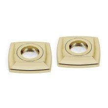 Cube Grab Bar Brackets A6524 - Polished Brass