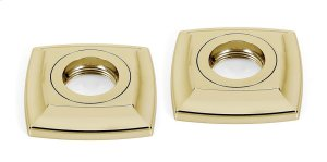 Cube Grab Bar Brackets A6524 - Polished Brass Product Image