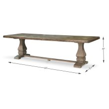 """The Frisco Dining Table, 83"""""""