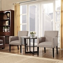 Chloe Armchair Set of 2 in Beige