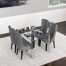 Frankfurt/Gusto 5pc Dining Set, Grey