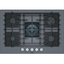 Benchmark® Gas Cooktop 30'' dark silver NGMP077UC