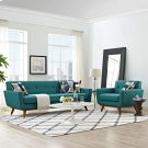 Engage Armchair and Sofa Set of 2 in Teal Product Image