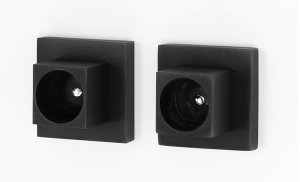 Contemporary II Shower Rod Brackets A8446 - Matte Black Product Image