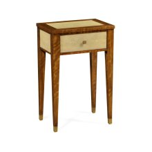 Ivory Shagreen Rectangular Lamp Table