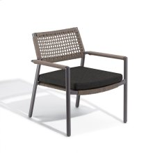 Eiland Club Chair - Carbon, Mocha Composite Cord Seat/Back