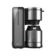 Coffee Maker with High Quality Stainless Steel & Glass Finish, Smoke