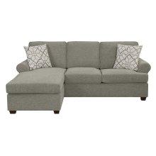 Emerald Home Tranquility Queen Plus Sleeper Chofa-sand W/gel Foam Mattress and 2 Accent Pillows U3264-66-05