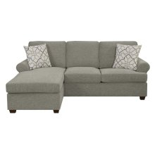 Queen Sofa Chaise Sleeper with Gel Mattress