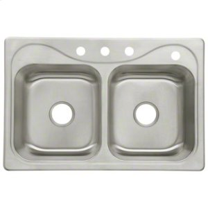 """Southhaven® Double Basin Sink, 33"""" x 22"""" x 8-1/2"""" Product Image"""