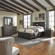 Queen Bookcase Bed, Dresser & Mirror, NS