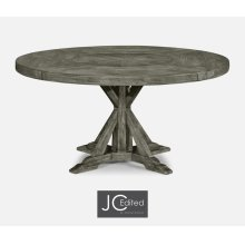 "60"" Circular Dining Table in Antique Dark Grey"