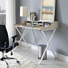 Bin Office Desk in Oak