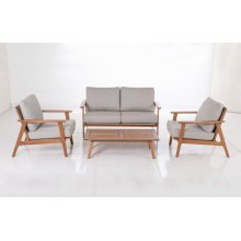 Kate Karri Gum FSC KD Deep Seating Lounge Chair w/ Sunbrella Cast Ash cush.