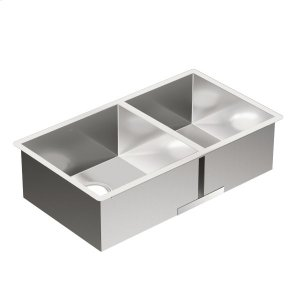1800 Series 31-1/2x18 stainless steel 18 gauge double bowl sink Product Image