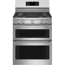 """Café 30"""" Smart Free-Standing Gas Double-Oven Range with Convection"""