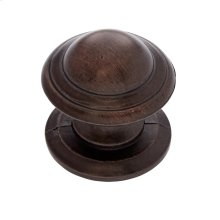 "Old World Bronze 1-1/4"" Knob w/Back Plate"