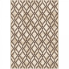 Windmeyer Contemporary 5x8 Area Rug in Beige/Brown