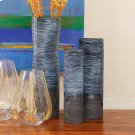 Carved Dented Vase-Ink-Lg Product Image
