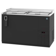 HBC-50, Refrigerator, Two Section, Black Vinyl Back Bar Bottle Cooler, Slide Top Doors