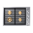 "Modernist 30"" Gas Cooktop, Silver Stainless Steel, Natural Gas Product Image"