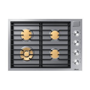 """Modernist 30"""" Gas Cooktop, Silver Stainless Steel, Natural Gas Product Image"""