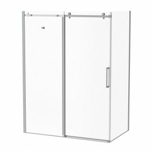 """60"""" 32"""" X 77"""" Sliding Shower Doors With Clear Glass - Chrome Product Image"""