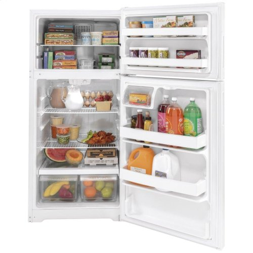 GE® ENERGY STAR® 16.6 Cu. Ft. Recessed Handle Top-Freezer Refrigerator